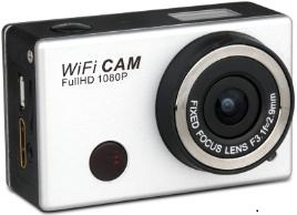 5.0mega CMOS Full HD Wireless WiFi Waterproof Silver HD Action Camcorder