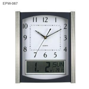 Si raddoppia l'orologio di parete dell'esposizione con il calendario di Digitahi (EMW-967)
