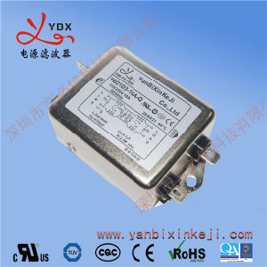 Haute performance bruit de ligne de puissance monophasé filtre EMI avec UL certificat TUV