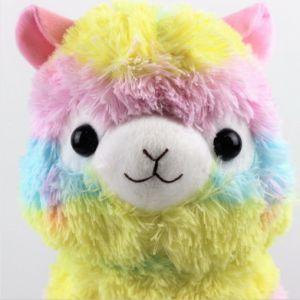 35cm Rainbow Vicugna brinquedos de pelúcia