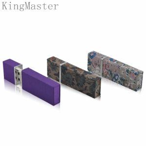 Kingmaster пластиковую карту USB флэш-накопителей USB на заводе Custom
