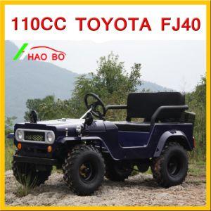 A cor azul 125cc Toyota Land Cruiser Jf-40