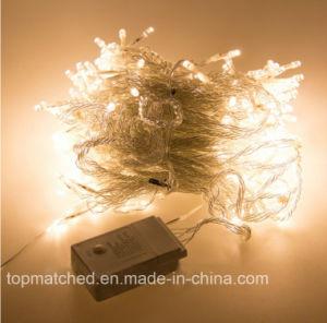 3mx3m 300 LED-Eiszapfen-Vorhang-Dekoration-Zeichenkette-Weihnachtslicht mit 8 Kopie Heller
