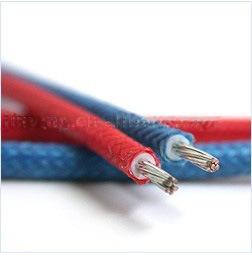 Isolamento de borracha de silicone fio trançado de fibra de vidro