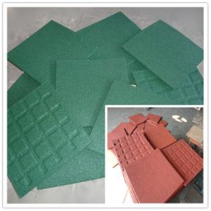 Reciclar o mosaico de borracha/Pavimentadora de borracha coloridas/Intertravamento azulejos de Borracha