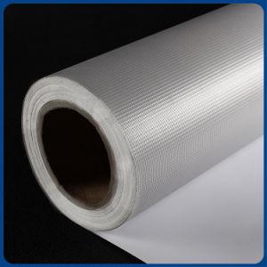 最上質のカスタム印刷できるロール材料PVC Blockout屈曲の旗の白灰色