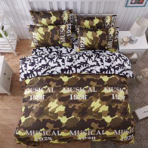安いMicrofiberの寝具の敷布の羽毛布団カバー