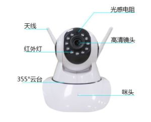 IP Surverillanceの無線ビデオ赤ん坊のモニタの写真のカメラ