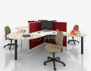 Nuovo disegno L divisorio di figura (SZ-WS352) di ufficio della stazione di lavoro popolare del personale