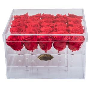 Flores de acrílico transparente de alta mayorista/caja de acrílico transparente Caja de flores