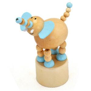 2015 Madeira Educativos Brinquedo Mola Animal Animal da mola de madeira brinquedo para o bebé, fingir de jogar o jogo da mola de brinquedos de animais de madeira W06D082
