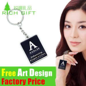 Randello Metal/PVC Keychain di vendita della fabbrica con il marchio a resina epossidica personalizzato