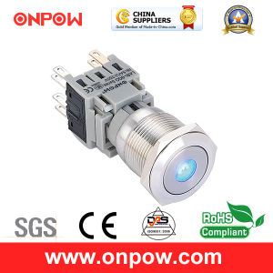 Onpow 19mm Push Button Switch (LAS1-BGQ-11D/R/12V/S、ULのセリウム、RoHS)