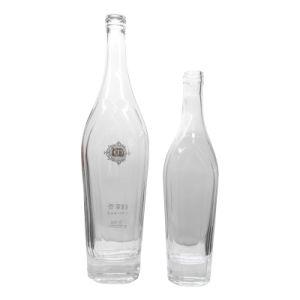 Bottiglie di cristallo con la decorazione per vodka, SGS del gin