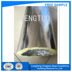 Isolamento de fibra de vidro à prova de fogo Ventiduct flexível para AVAC