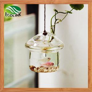Подвешенные стекло букет ваза / Рыба топливного бака