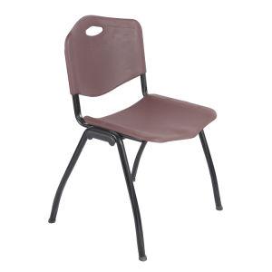 金属フレームとのインタビューのための現代オフィスのプラスチック椅子