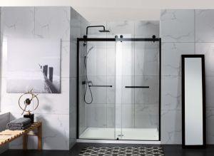 優雅なマットの黒い二重滑走のシャワー機構