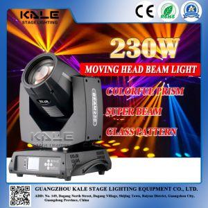 230W DMX Phase de contrôle de déplacement du faisceaux de lumière de la tête d'éclairage