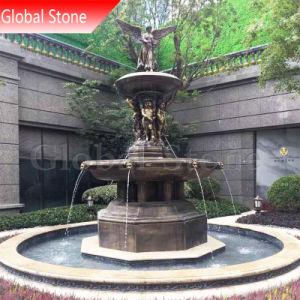 Jardim personalizados Anjo Escultura estátua de bronze grande fonte de água (GSBR-261)