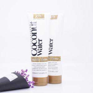 Gel d'idratazione dell'acquazzone della pelle dell'estratto dell'acqua della noce di cocco di cura del corpo dell'OEM 300ml