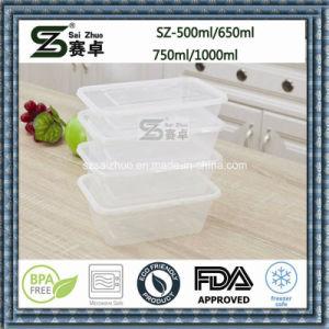 Compartimento único Fiambrera de plástico contenedores de alimentos