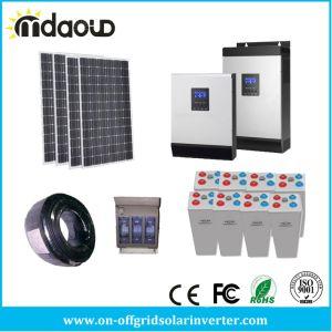 Kit solaire hors réseau 1500W 4.8Kwh solaire grande banque Gel 5kVA/ 4kw/le chargeur de l'onduleur MPPT 60A