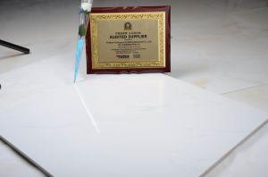 Het Witte Bouwmateriaal van Jazzi, Tegel van de Vloer van het Porselein van de Decoratie de Materiële, Volledige Verglaasde, Ceramiektegel (600*600mm)