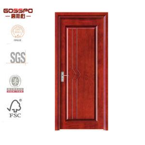 Portello di legno di posizione del portello dell'impiallacciatura su ordinazione interna del MDF (GSP8-030)