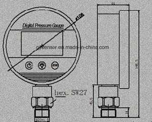 De grote Maat van de Druk van China van het Gezicht Digitale Psi, Staaf, Kg/Cm2, of Kpa Beschikbare 1/4 Bsp