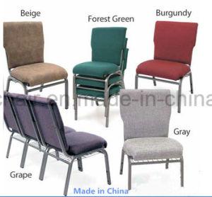 金属スタック可能パッドを入れられた教会椅子