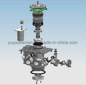 2トンの世帯のLCD表示が付いている自動Downflow制御弁または水軟化剤弁