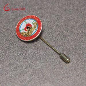 Пользовательский логотип эмаль золото металлические долго игольчатый петличный штифты