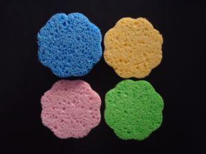 Esponja de Limpeza Facial Beleza Natural Pele esponja de celulose de madeira