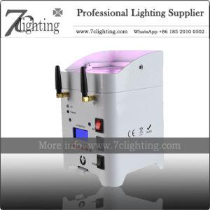 Portátil alimentado por baterías de las luces de la Etapa 4X18W Iluminación Inalámbrica Boda