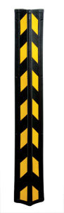 Angle de mur de caoutchouc industriels réfléchissant Protection de sécurité pour les terrains de stationnement (CC-C03)