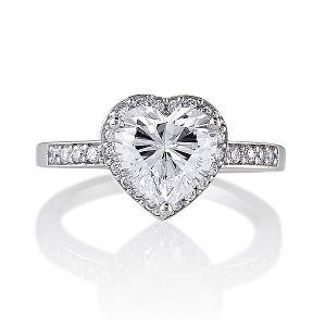 女性のための純銀製925の中心CZのリングの宝石類