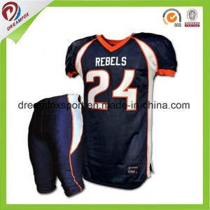 Ajuste a seco camisa esportiva camisa futebol americano de sublimação  personalizada 7c787245e24bc