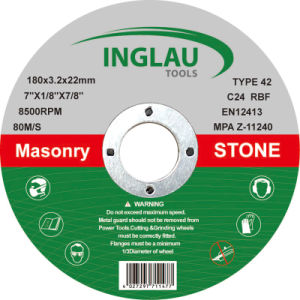 Disco depresso di taglio concentrare di T42 180X3.2X22.2 per la pietra