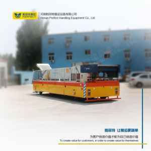 Operado a bateria do veículo de transporte para a oficina de fabricação