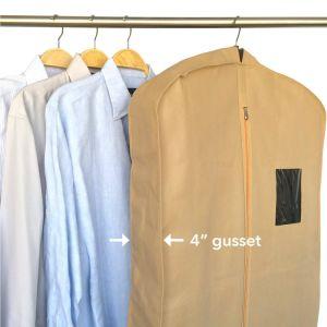 純粋な黄色の非編まれた布のコートの衣装袋