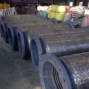 Collegare ondulato che intreccia il tubo flessibile del metallo flessibile con la flangia