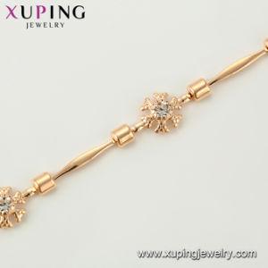 형식 로즈 금에 있는 간단한 금관 악기 보석 사슬 팔찌는 도금했다