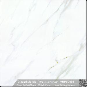 Flooring&Wallの装飾の十分に磨かれた艶をかけられた磁器の床タイル(600X600mm、VRP6D014)
