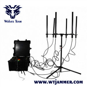 350W 4-8bandsHigh Power WiFi GPS 433MHz Signal Drone Jammer (tot 2000m)