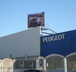 P10 panneaux LED RVB commercial en plein air