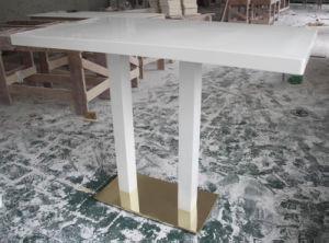 [ستينلسّ ستيل] طاولة قاعدة اصطناعيّة رخاميّة [كفّ تبل] مجموعة