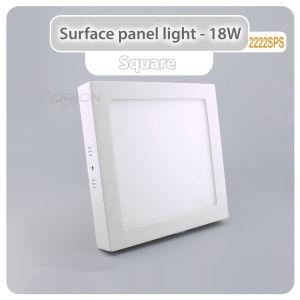 La iluminación del panel LED 6W 12W 18W la plaza de la luz de techo LED panel LED panel LED redonda de la luz para interiores
