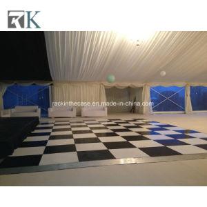 Negro portátil de madera contrachapada de pista de baile del Panel de suelos para el evento boda