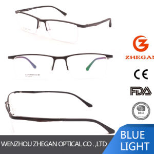 Eyewear Eyeglass Women新しいデザイン普及した半分の縁の金属ガラスのブランドの女性光学フレーム